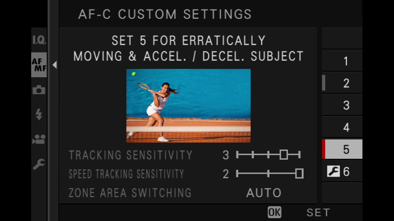 Learn photography with Fujifilm, Customizing Continuous Focusing